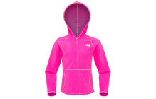 The North Face Girl's Glacier Full Zip Hoodie linaria pink